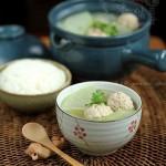 冬瓜汆丸子汤(荤素搭配菜谱)