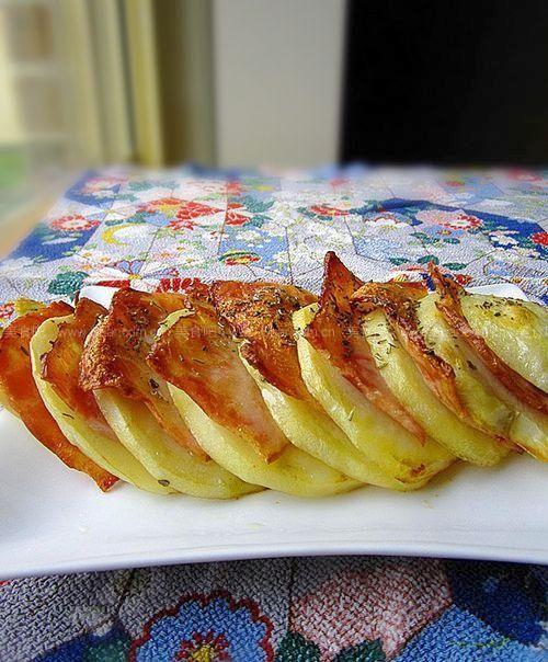 烤培根土豆夹的做法【图解】_烤培根土豆夹的家常做法