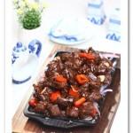 铁板黑椒牛肉粒(荤菜菜谱)