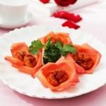玫瑰虾球(七夕菜谱)