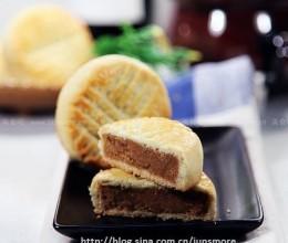 红莲蓉奶油皮月饼