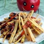 豆豉笋尖(减肥人士大爱的刮油菜谱)