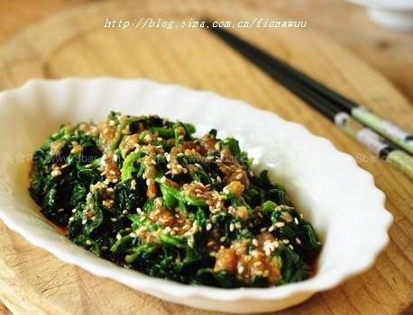 香拌菠菜(涼拌素菜菜譜)