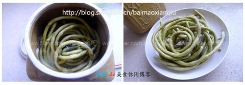 酸玉米土豆炒肉末(荤素搭配菜谱-自制酸牛腩)豇豆菇块浓汤豇豆图片