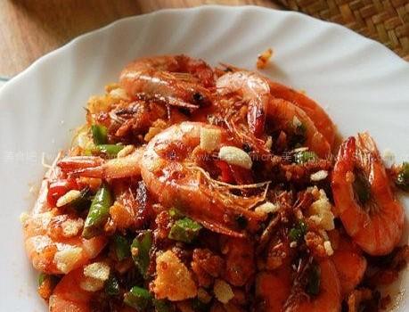 避風塘大蝦炒(海鮮菜譜)