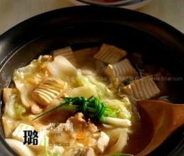 鲍汁白菜豆腐煲