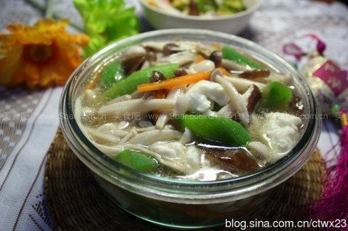 芙蓉菌菇丝瓜汤