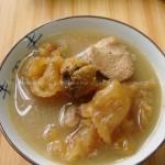 姬松茸菇花膠豬骨湯(養顏珍品菜譜)