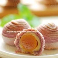 紫薯莲蓉千层月饼