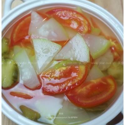 葫芦番茄榨菜汤
