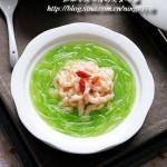 翡翠鲜虾线(节后清肠缓解秋燥菜谱)