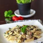 意大利菠菜蘑菇白酱通粉(西餐菜谱)