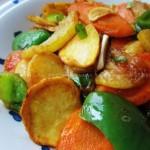 金丝瓜烩三鲜(素菜菜谱)