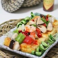 海鮮金磚豆腐