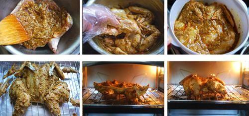 红咖喱烤鸡