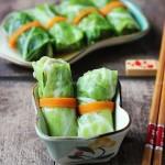 翡翠头菜卷(清蒸菜谱)