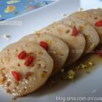 红糖桂花糯米藕(凉菜菜谱)