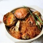 大闸蟹粉丝干锅(海鲜菜谱)