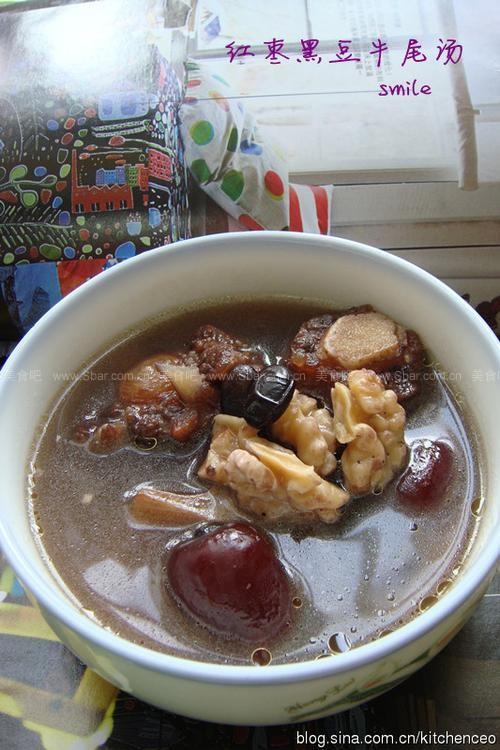 红枣黑豆牛尾汤的排骨【图解】_牛尾黑豆红枣洋做法西游记图片