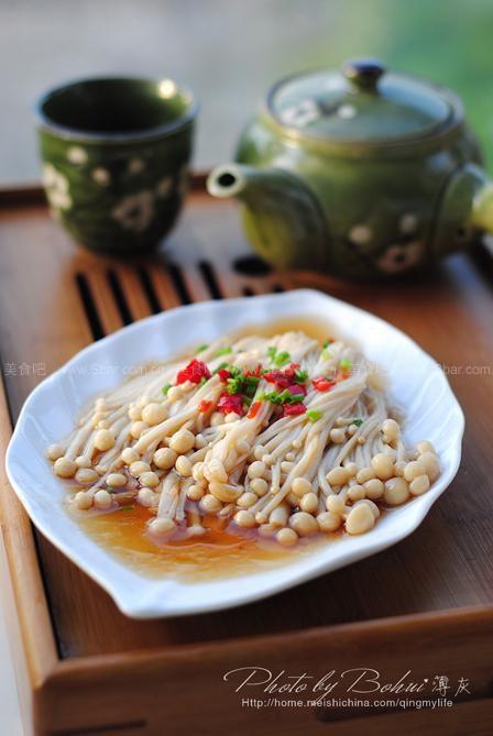 剁椒蒸金针菇