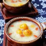 酒酿南瓜豆沙圆(初冬滋润汤水菜谱)