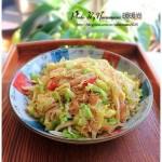 圆白菜炒粉丝(素菜菜谱)