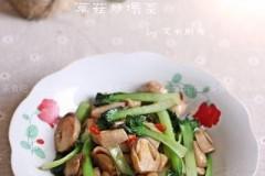 草菇炒塌菜