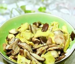 香菇炒蛋皮