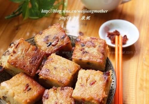 广式腊味萝卜糕(广式家常点心菜谱)