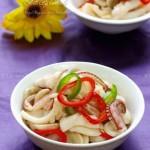 蘑菇炒鱿鱼(海鲜菜谱)