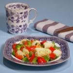 彩椒鱿鱼卷(海鲜菜谱)