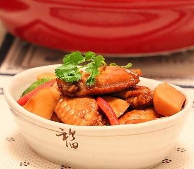 芋艿烧鸡翅(风味绝佳的冬日菜谱)