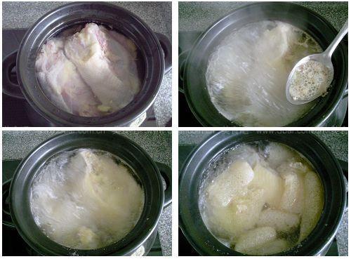 竹荪煲鸡汤