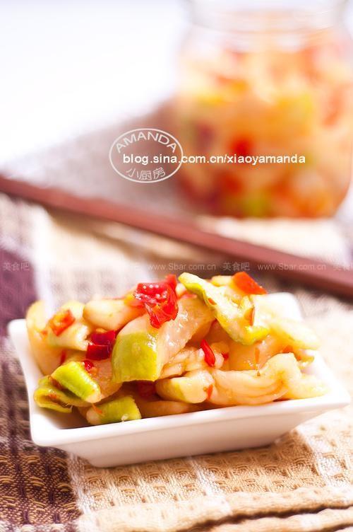 剁椒萝卜干(做法菜谱)柴豆腐的咸菜图片