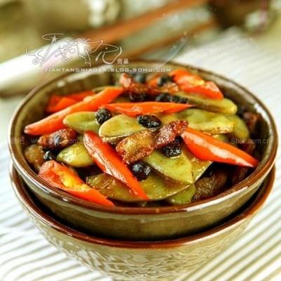 干煸豆豉扁豆