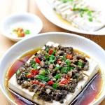 榄菜肉末蒸豆腐(清蒸食谱)