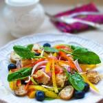 雞肉油醋汁果蔬沙拉(早餐菜譜)
