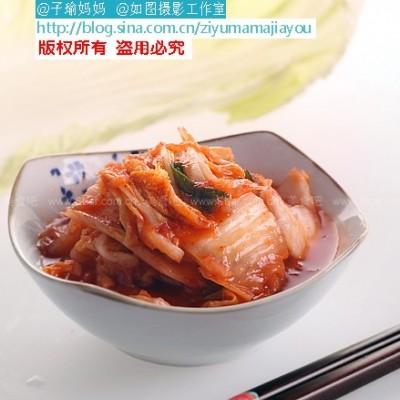 自制简易切件泡菜---辣白菜