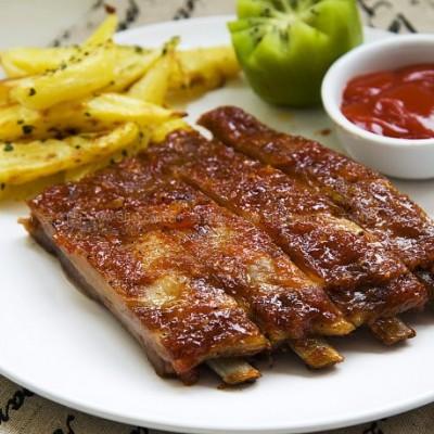 美式香烤猪肋排