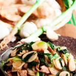 大蒜肉丝炒年糕(春节年菜-寓意年年高升的好彩头)