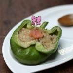 微波青椒釀肉(微波爐菜譜)