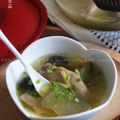 微波香菇冬瓜鸡汤
