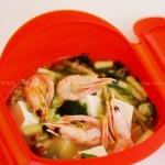 微波鲜虾什锦味增汤(五分钟微波炉菜谱)