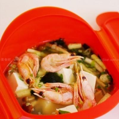 微波鲜虾什锦味增汤