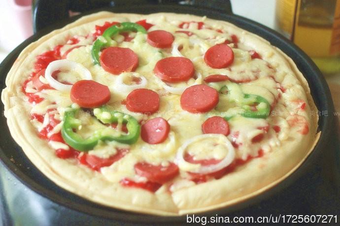 电饼铛比萨的做法【图解】_电饼铛比萨的家常做法_电
