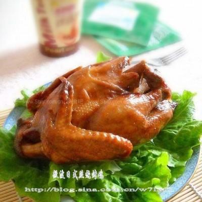 微波炉日式照烧酱烤全鸡