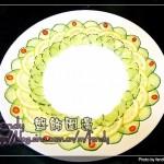 锦上添花之番茄黄瓜(盘饰围边)