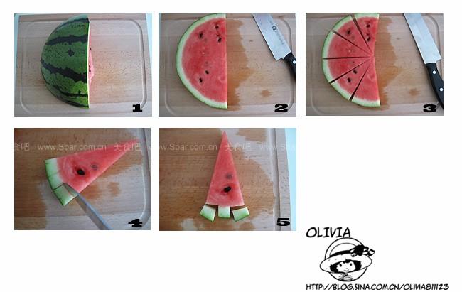 快切花样西瓜(水果拼盘-西瓜季宴客果盘的五种优雅切法)的做法步骤