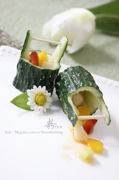 黄瓜桶盘饰