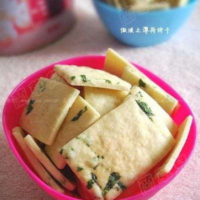 微波香草薄荷饼干